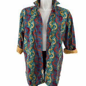 Rainbow XL Kokopelli shacket (shirt jacket)